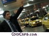 businessman hailing a cab Stock photo