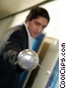 fencing businessman Stock photo