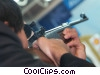 businessman skeet shooter Stock photo