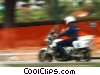 Stock photo  of a motorcycle policeman