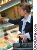 Stock photo  of a businesswoman ordering ice