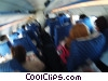 passenger compartment of commercial jet Stock photo