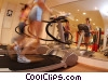 Stock photo  of a women running on the treadmill