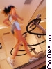 woman running on the treadmill Stock photo
