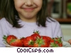 Stock photo  of a girl with strawberries