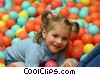 Stock photo  of a girl playing in ball room
