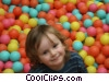 boy playing in ball room Stock photo