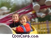 Stock photo  of a children on a ride at the
