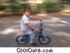 boy riding his bike Stock photo