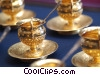 antique teacups Stock photo