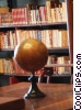 Stock photo  of a globe and books