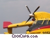 Stock photo  of a propeller plane