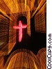 Stock photo  of a neon cross