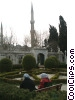people in the courtyard of the Istanbul Mosque Stock photo