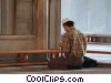 man praying in the Istanbul Mosque Stock photo