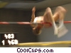 Stock photo  of a high jumper
