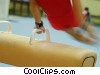 Stock photo  of a man on the pommel horse