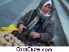 Stock photo  of a street vendor