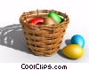 Stock photo  of a Basket of Easter Eggs