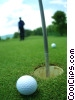golfer practicing putting Stock photo