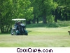 Stock photo  of a golfers in a power cart