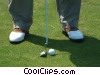 Stock photo  of a golfer putting