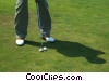 golfer putting Stock photo