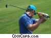 golfer making his shot Stock photo