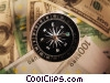 Stock photo  of a financial concept with compass