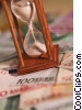 financial concept hourglass and time Stock photo