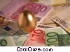 Stock photo  of a financial concept golden egg