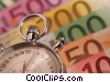 financial concept stopwatch with dollars Stock photo