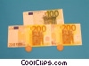 financial concept dollars with coins Stock photo