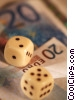 financial concept with dice Stock photo