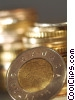 Stock photo  of a dollar coins Canadian Loonie
