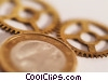 financial concept coin with gears Stock photo