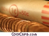 Stock photo  of a rolled coins