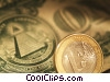 Stock photo  of a dollars and coins