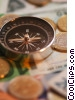 financial concept with compass Stock photo