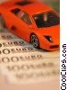 financial concept with sports car Stock photo