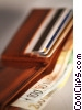wallet with Euro currency Stock photo