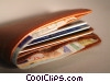Stock photo  of a wallet with Euro currency