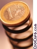 financial concept Euro coin on spring Stock photo
