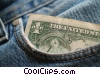 dollar in a pocket Stock photo