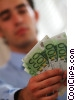 man counting his money Stock photo