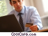businessman making an online transaction Stock photo