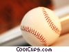 baseball glove, bat & ball Stock photo