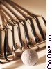 golf clubs and ball Stock photo