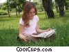 Stock photo  of a girls reading a book in the
