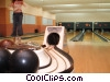 girl bowling Stock photo